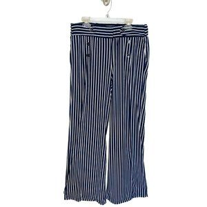 Robert Louis Pants Blue White Striped Sailor Lrg
